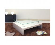 Tavolino salotto, tavolino quadrato in vetro