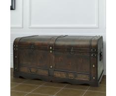 vidaXL Bauli in legno baule con cassetti cassapanca tavolino da caffè