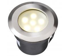 Garden Lights Luce ad incasso a LED Sirius in Acciaio Inox