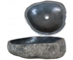 vidaXL Lavandino Ovale in Pietra del Fiume 30-35 cm