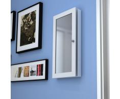 vidaXL Armadietto a muro per accessori con specchio
