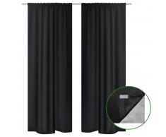 Tenda Termica Oscurante Foderata Nera Blackout 140 x 245 cm 2 pz