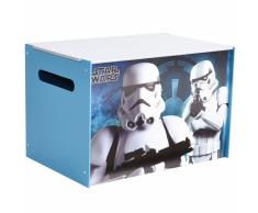 Disney Scatola Porata Giocattoli Star Wars 60x39x39 cm in Legno Blu WORL930008