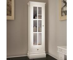 vidaXL Libreria in legno 3 scaffali colore bianco stile classico
