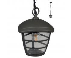Luxform lampada a sospensione Bruxelles Antracite LUX1605Z