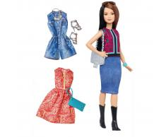 Barbie Fashionistas Bambola Pretty in Paisley (Bella Paisley) DTF04