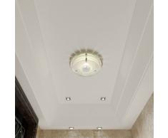 vidaXL Lampada da soffitto in vetro rotonda 1 x E27 Cristallo