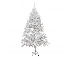 vidaXL Albero di Natale Artificiale con Supporto e 620 Rami 180 cm