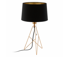 EGLO Lampada da Tavolo CAMPORALE Ramato e Nero 56 cm 39178
