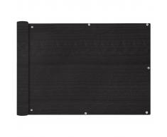 vidaXL Paravento da Balcone HDPE 75x600 cm Antracite