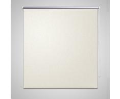 vidaXL Tenda a rullo oscurante 60 x 120 cm Bianco sporco