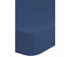 Emotion Lenzuolo con Angoli in Jersey 160/180x200 cm Blu 0200.24.46