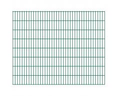 vidaXL 2D Pannello di Recinzione Giardino 2008x1630 mm 4 m Verde