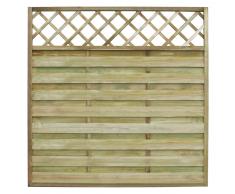 vidaXL Pannello recinzione quadrato giardino tralliccio in legno 180 x cm