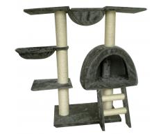 vidaXL Tiragraffi 105 centimetri Peluche grigio