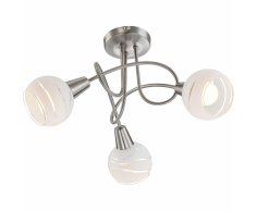 GLOBO Faretto a LED con 3 Lampadine ELLIOTT in Nichel Opaco 54341-3