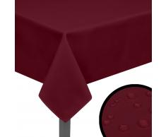 vidaXL Tovaglia 5 pz 220x130 Bordeaux