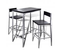 vidaXL Set alto da bar contatore colazione tavolo e sgabelli