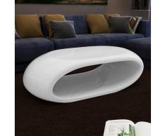 vidaXL Tavolino incavato bianco