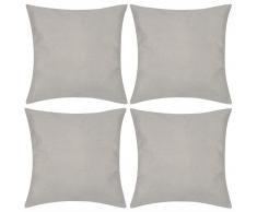 vidaXL 4 federe in lino beige 50 x cm