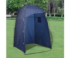 vidaXL Tenda per doccia/Wc/cambio vestiti blu