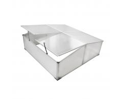vidaXL Mini serra-orto balcone e terrazzo, policarbonato,4 aperture