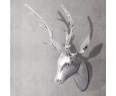 vidaXL Decorazione da parete Testa cervo colore argento 61 cm