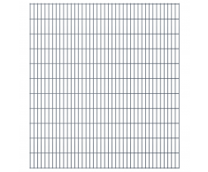 vidaXL Set Pannelli recinzione giardino 2D 2008x2230 mm 46 m grigio