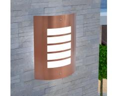 vidaXL Lampada da parete esterno in acciaio inox color rame