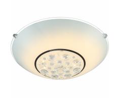 GLOBO Plafoniera a LED LOUISE in Vetro Cromato 48175-12