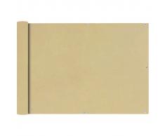 vidaXL Paravento da Balcone in Tessuto Oxford 75x600 cm Beige