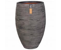 Capi Vaso Nature Rib Deluxe Elegante 40x60 cm Antracite PKOFZ1131
