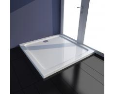 vidaXL Piatto doccia quadrato in ABS bianco 80 x cm