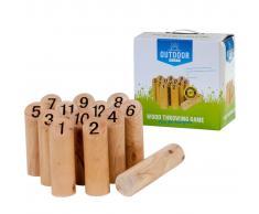 OUTDOOR PLAY Gioco Kubb con numeri legno