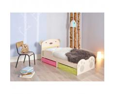 Worlds Apart Letto Bambini con Cassetti Bear Hug Beige WORL230011