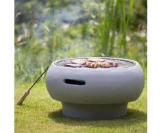 BBGRILL Barbecue Portatile Grigio BBQ TUB-G