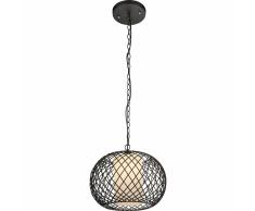 GLOBO Lampada a Sospensione STACY Nera 40 cm 15270