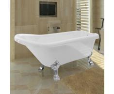 vidaXL Vasca da bagno autoportante classica con protezione trabocco