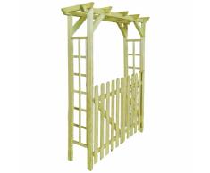 vidaXL Pergola/Porta ad Arco da Giardino per Rose Legno Impregnato 150x50x200 cm