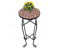 Tavolino Piante Modello Mosaico Terracotta