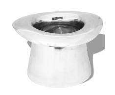 vidaXL Secchiello per Ghiaccio Champagne a Forma di Cappello Argento Alluminio