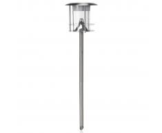 SMARTWARES Lampione Solare con Rilevatore di Movimento Argento GWS-179-MS