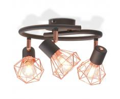 vidaXL Plafoniera con 3 Lampadine a LED Incandescenza 12 W