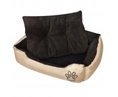 Letto caldo per cani con cuscino imbottito XL