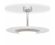 vidaXL Lampada da soffitto a LED rotonda bianca