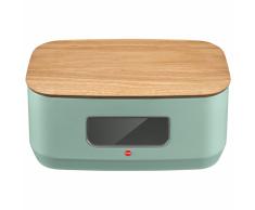 Hailo Portapane KitchenLine Design con Tagliere Verde Menta Opaco 0833-940