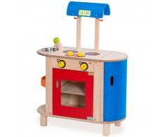 Wonderworld Cucina Giocattolo in Legno Blu e Rosso HOUT192443