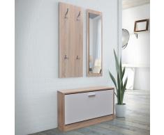 vidaXL Scarpiera Set 3-in-1 Aspetto legno naturale