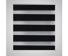 Tenda a rullo oscurante zebra 140x175cm nera
