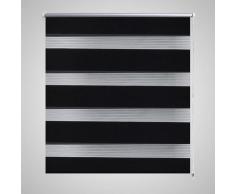 vidaXL Tenda a rullo oscurante zebra 70x120 nera